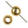Metal Bead Round 5mm With 2mm Hole Gold Plated Lead Free